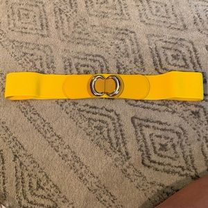 Yellow mod cloth belt in Plus size